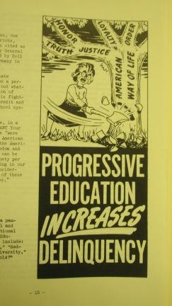 Zoll, Progressive Education Increases Delinquency