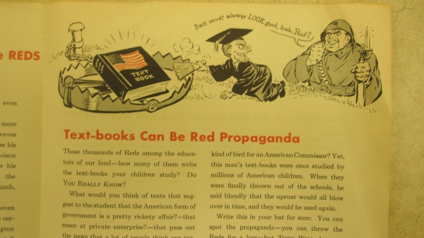 Warning!  Commie Teachers!