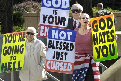 Image Source: Top Ten Unbelievable Westboro Baptist Church Protests