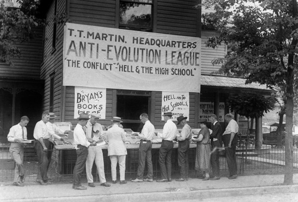 """Martin's Booth in Dayton, Tennessee, during the Scopes """"Monkey"""" Trial, 1925"""