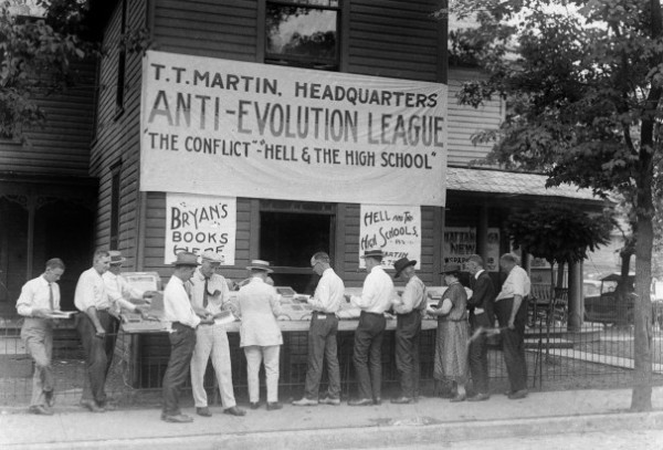 "Martin's Booth in Dayton, Tennessee, during the Scopes ""Monkey"" Trial, 1925"