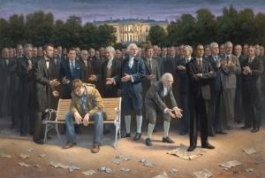 """Jon McNaughton's """"The Forgotten Man."""" Politics first, art second."""