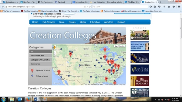 creation colleges screenshot