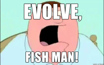 peter griffin evolve fish man