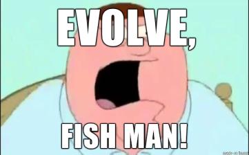 peter griffin evolve fish man