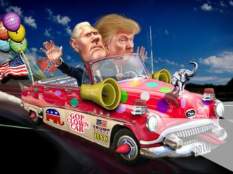 pence trump clown car