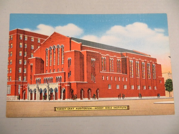 1940s postcard proposed auditorium