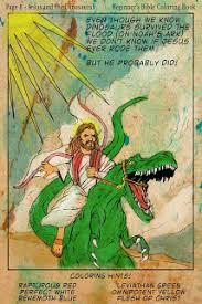 Jesus on a dinosaur.jpg 1