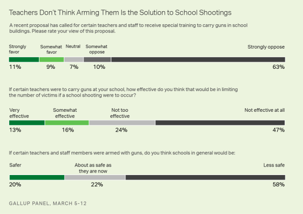 gallup on teachers with guns