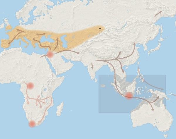 human history map