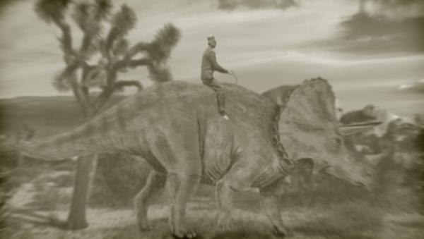 ham on triceratops