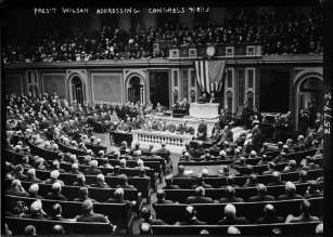 wilson addressing congress
