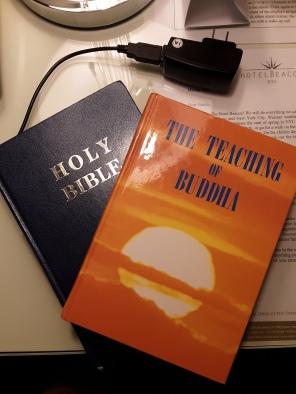 bible and buddha