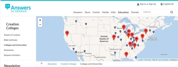 CREATION COLLEGE MAP