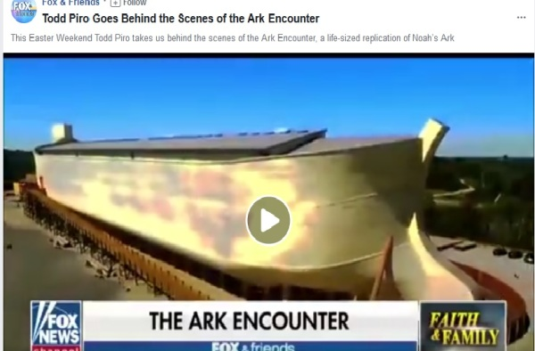 fox n friends at the ark encounter