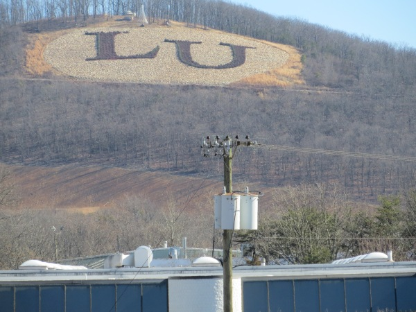 LU sign on mountain
