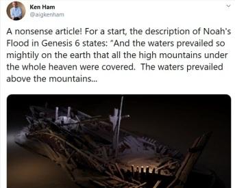 Ham fake news tweet