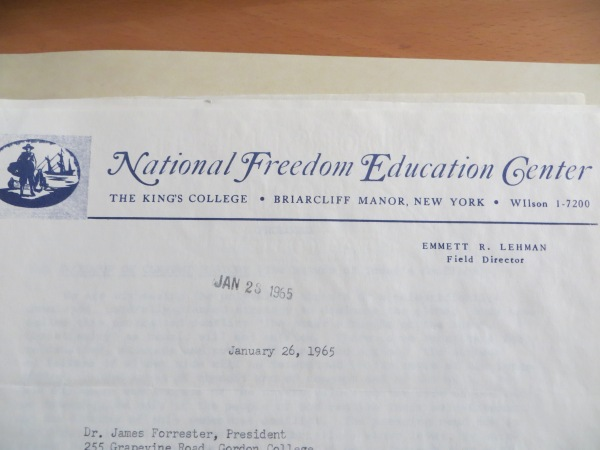 national freedom education center letterhead