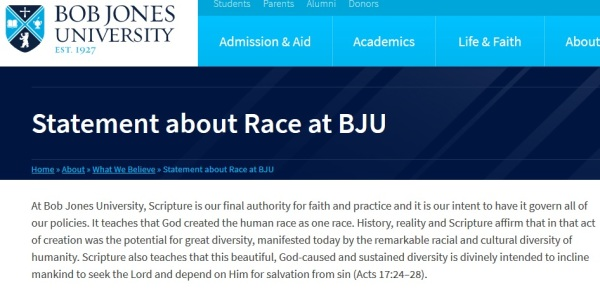 bju race statement