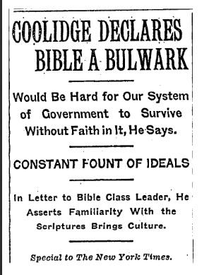 coolidge bible NYT